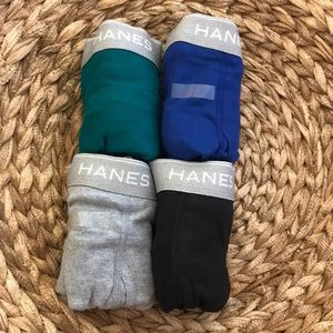 4 Hanes tables boxer briefs l wicking cool nwot